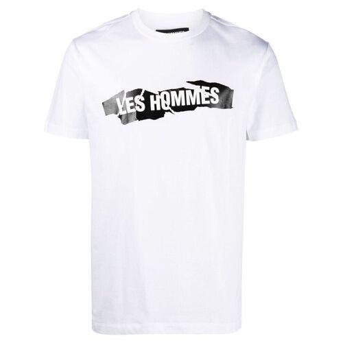 Les Hommes T-Shirt mit eingerissenem Logo - Weiß Female regular