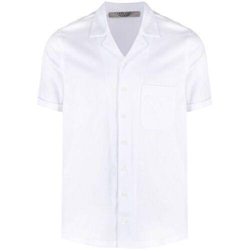 D4.0 Hemd mit kubanischem Kragen - Weiß Unisex regular