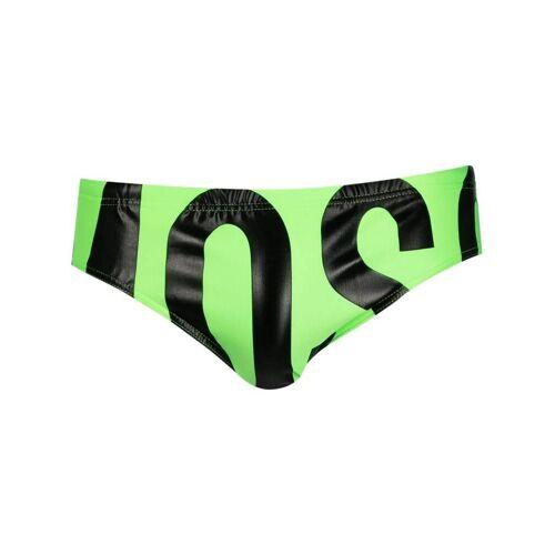 Moschino Badehose mit Logo-Print - Grün Female regular