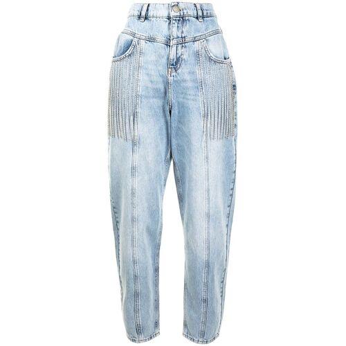 TWINSET High-Waist-Jeans mit Kristallketten - Blau Female regular