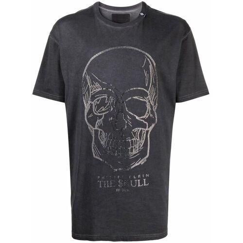 Philipp Plein T-Shirt mit Kristall-Totenkopf - Schwarz Unisex regular