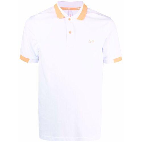 Sun 68 Besticktes Poloshirt - Weiß Female regular