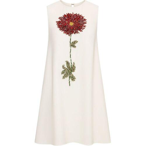 Oscar de la Renta A-Linien-Kleid mit Kristallblume - Nude Female regular