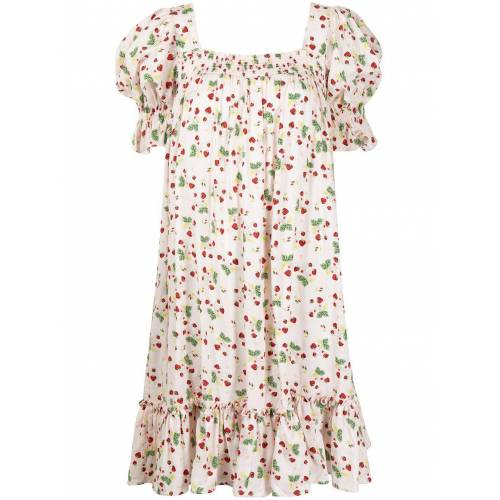byTiMo Babydoll-Kleid mit Erdbeeren-Print - Rosa Female regular