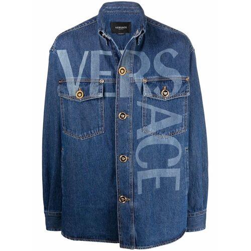 Versace Jeansjacke mit Logo - Blau Female regular
