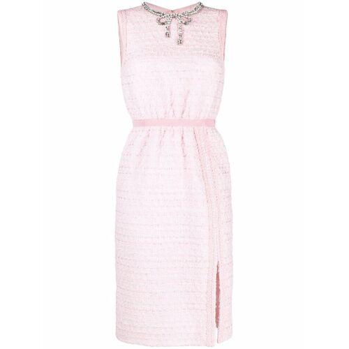 Giambattista Valli Tweed-Kleid mit Kristallschleife - Rosa Female regular