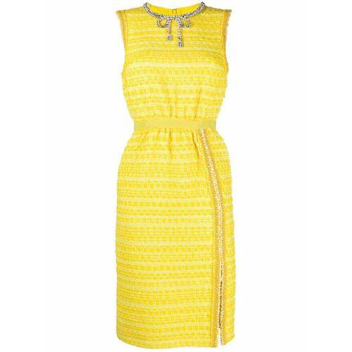 Giambattista Valli Tweed-Kleid mit Kristallschleife - Gelb Male regular