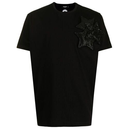 Dsquared2 T-Shirt mit Kristallsternen - Schwarz Unisex regular
