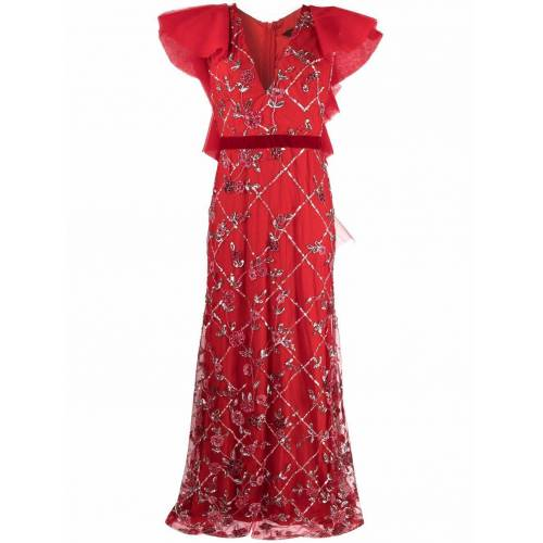 Parlor Kristallverziertes Abendkleid - Rot Female regular