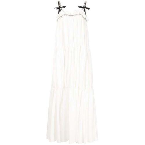 AREA Kristallverziertes Abendkleid - Weiß Male regular