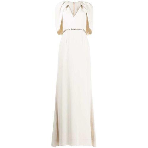 Jenny Packham Abendkleid mit Kristallen - Weiß Female regular