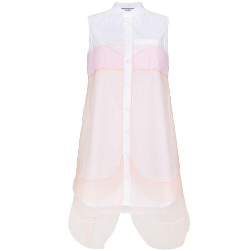 Prada Ärmeloses Hemdkleid - Weiß Male regular