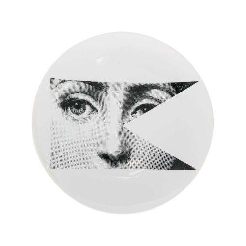 Fornasetti Teller mit Auge - Weiß Unisex regular