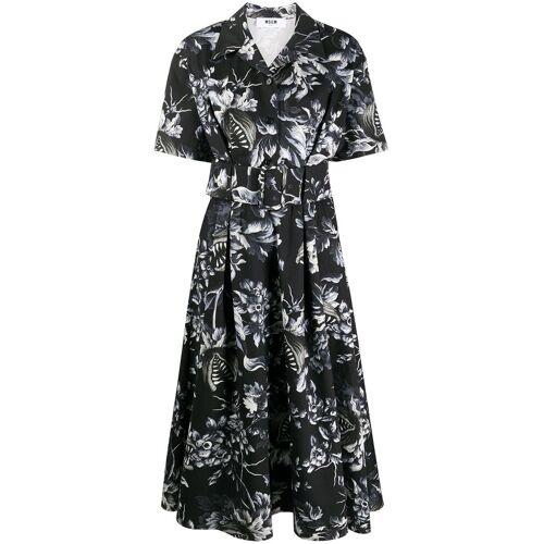 MSGM Kleid mit Venusfliegenfallen-Print - Schwarz Unisex regular