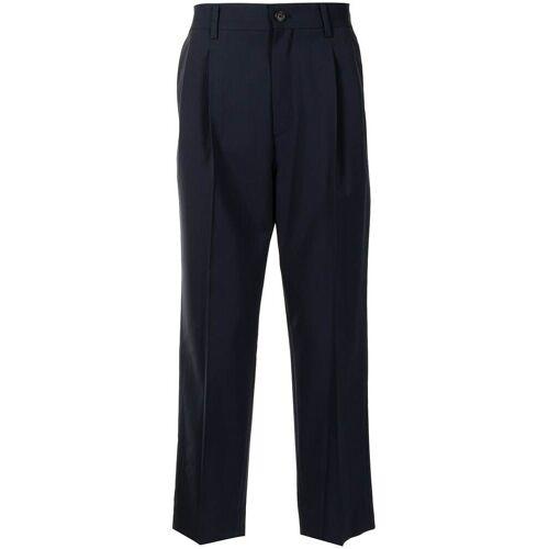 SOLID HOMME Hose mit eingelegter Falte - Blau Female regular