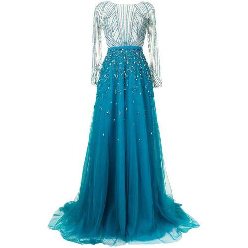 Saiid Kobeisy Abendkleid mit Kristallen - Blau Male regular