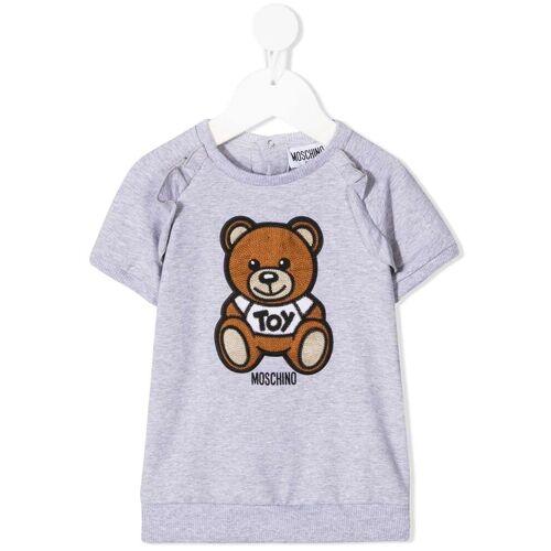 Moschino Kids Kleid mit gehäkeltem Teddy - Grau Unisex regular