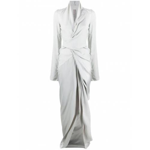 Rick Owens Bodenlange Robe - Grau Female regular