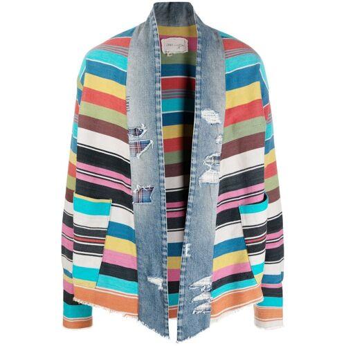 Greg Lauren GL1 Blanket Scrapwork Jacke - Blau Female regular