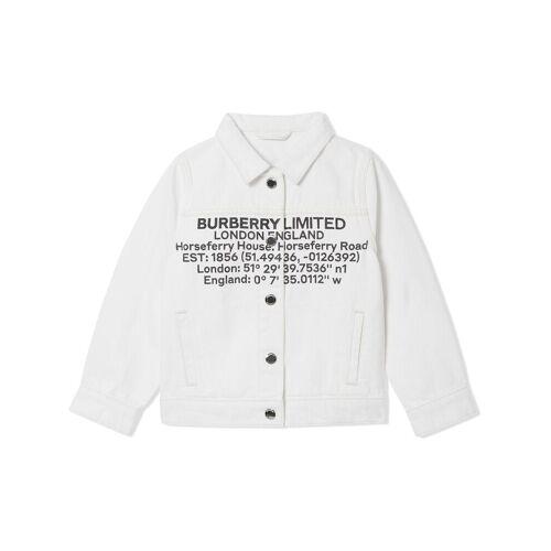 Burberry Kids Jeansjacke mit Print - Weiß Unisex regular