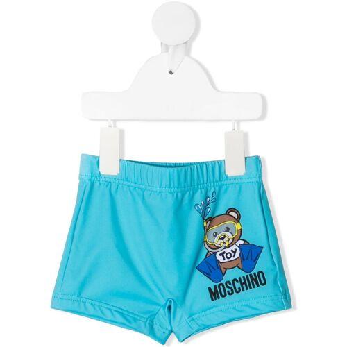 Moschino Kids Badehose mit Teddy-Print - Blau Male regular
