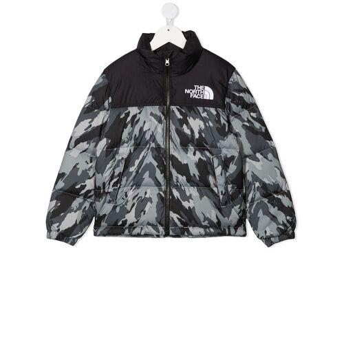 The North Face Kids TEEN Daunenjacke mit Camouflage-Print - Grau Male regular