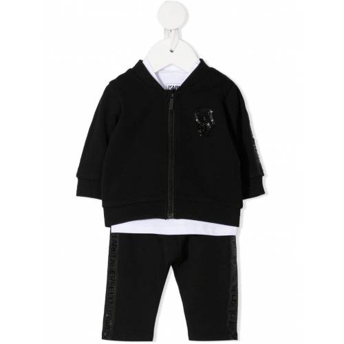 Karl Lagerfeld Kids Jogginganzug mit Logo-Patch - Weiß Male regular