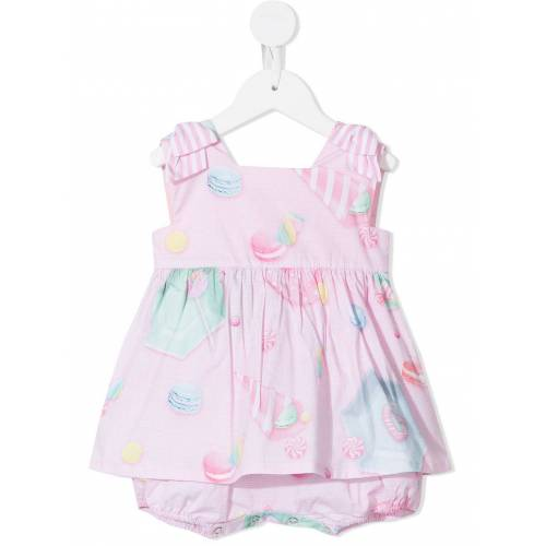 Lapin House Kleid mit Süßigkeiten-Print - Rosa Unisex regular