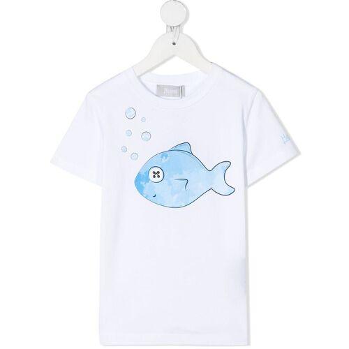 Herno Kids T-Shirt mit Fischmotiv - Weiß Female regular