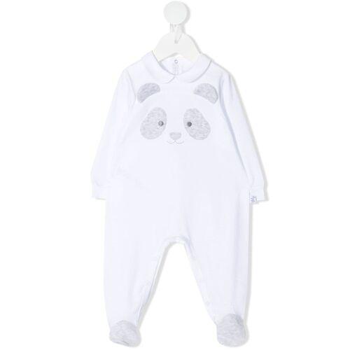 Il Gufo Pyjama mit Panda-Stickerei - Weiß Female regular
