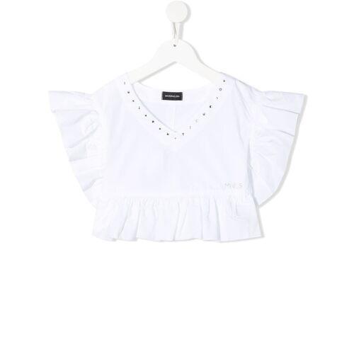 Monnalisa Bluse mit Kristalldetail - Weiß Unisex regular