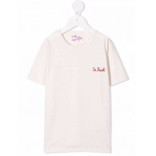Mc2 Saint Barth Kids T-Shirt mit Logo-Stickerei - Nude Male regular