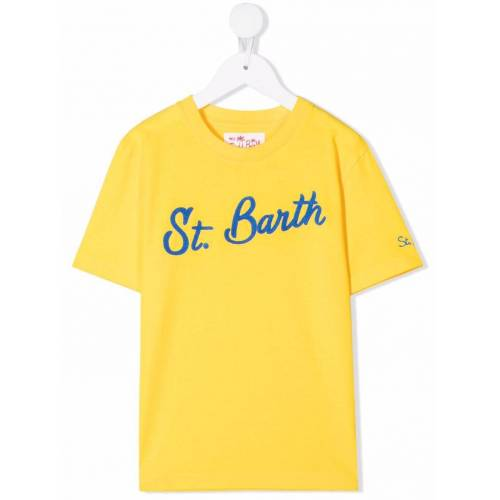 Mc2 Saint Barth Kids T-Shirt mit Logo-Stickerei - Gelb Male regular