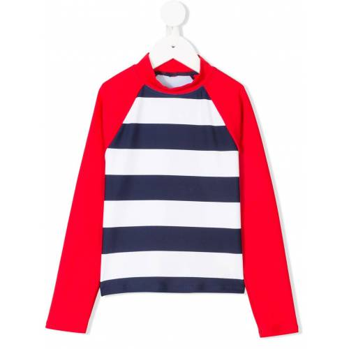 Perfect Moment Kids Surfanzug mit Streifen - Rot Female regular