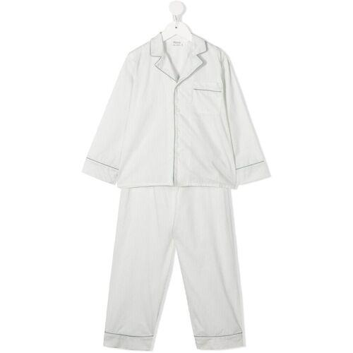 Bonpoint Pyjama mit Nadelstreifen - Weiß Male regular