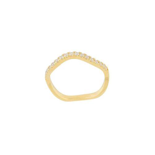 Eshvi Ring mit Kristallen - Metallisch Female regular