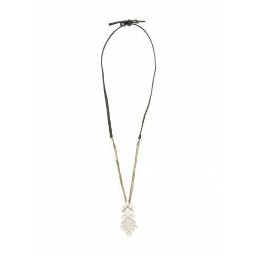 LANVIN Halskette mit Kristallanhänger - Schwarz Male regular