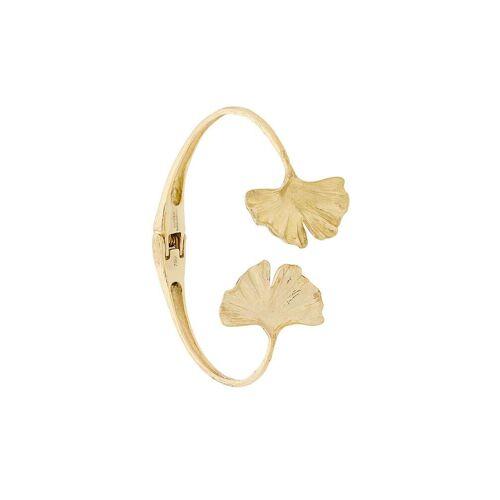 Aurelie Bidermann 18kt Gelbgoldarmspange mit Ginkgoblättern Male regular