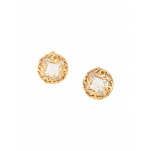 Chanel Pre-Owned Ohrringe mit Kristallen - Gold Female regular