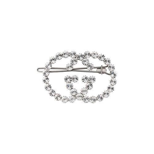 Gucci Haarclip mit Kristallen - Metallisch Female regular
