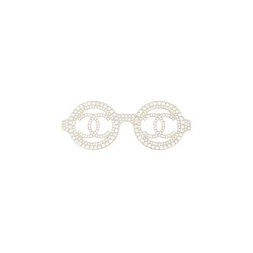 Chanel Pre-Owned 2017er Brille mit Strass - Silber Female regular