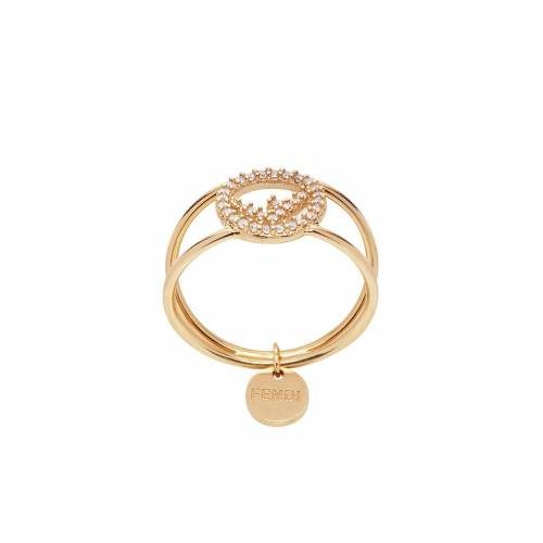 Fendi Ring mit Kristallmonogramm - Gold Male regular