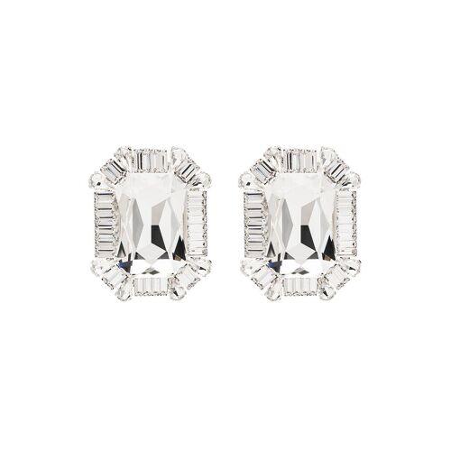 Alessandra Rich Ohrclips mit Kristallen - Silber Male regular