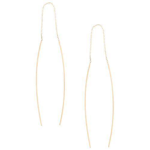 Niza Huang 9kt Goldohrringe mit gebogener Form Male regular