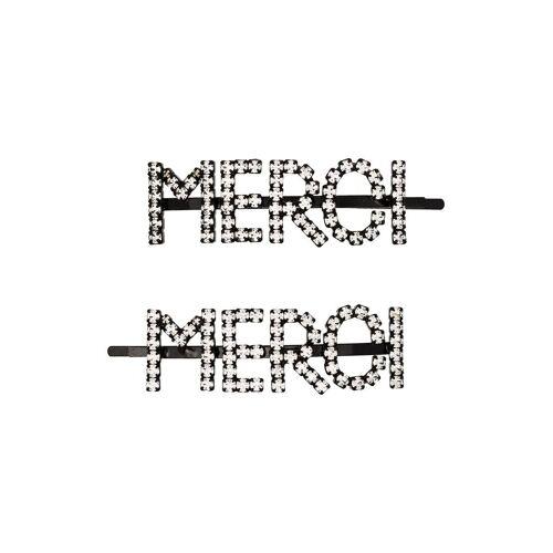 Ashley Williams 'MERCI' Haarnadeln mit Kristallen - METALLIC Unisex regular