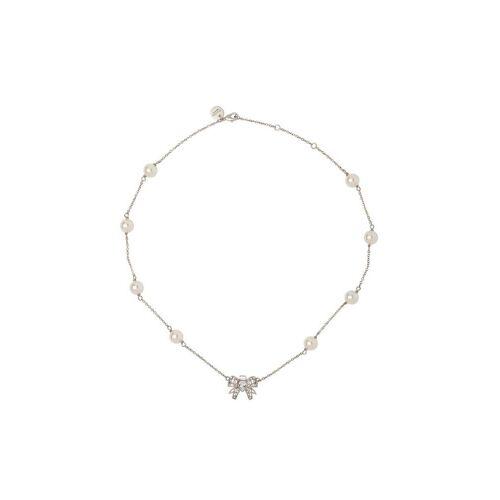 Miu Miu Halskette mit Kristallschleife - F0QCD CREAM/CRISTAL Female regular