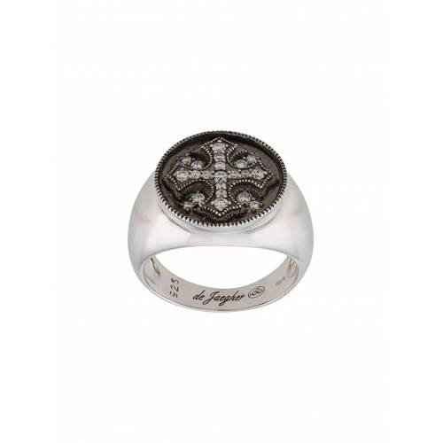 DE JAEGHER Ring mit Kristallkreuz - Silber Unisex regular