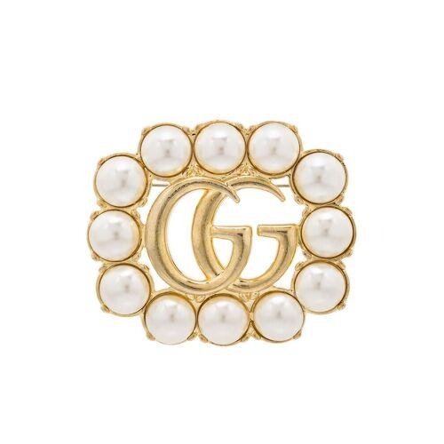 Gucci 'Double G' Brosche mit Kristallen - Gold Male regular