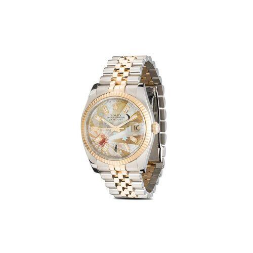 Jacquie Aiche 'Customised Rolex Datejust' Armbanduhr - Silber Unisex regular