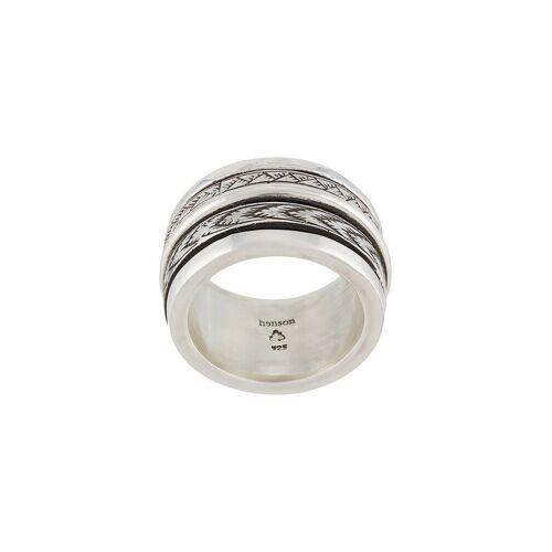 Henson Gravierter Ring - Silber Female regular